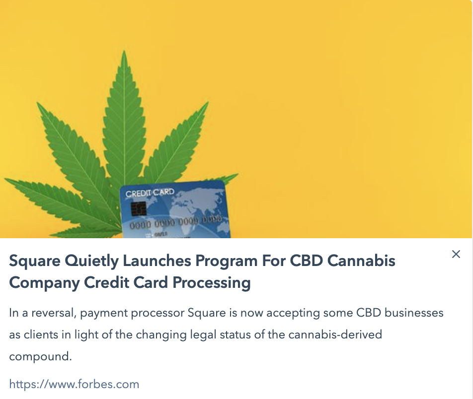 Square credit card processing & CBD products   CED Foundation