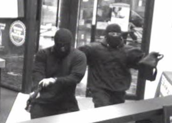 masked bank robbers